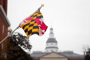 Annapolis-State-House-MD-flag_304