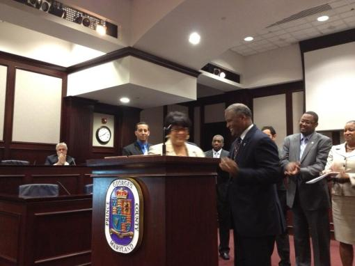 Dr. Beverly Anderson Newly sworn