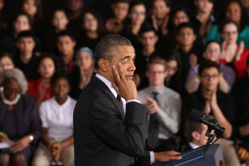 President Obama Delivers Remarks On ConnectED At Maryland Middle School