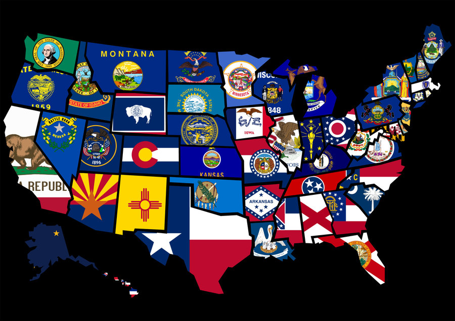 US High School Dropout Rates Fall Pgcps Mess Reform Sasscer - Us map with state flags