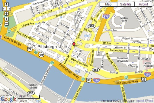 pittsburghPAmap