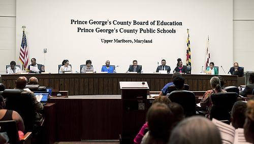 The Prince George's County Board of Education meets on June 25 to discuss the budget for fiscal year 2016. The budget passed with seven ayes, three abstentions, and two nos.
