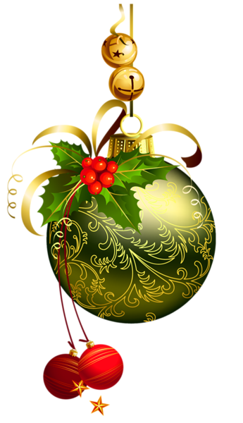 Green_Transparent_Christmas_Ball_with_Mistletoe_Clipart