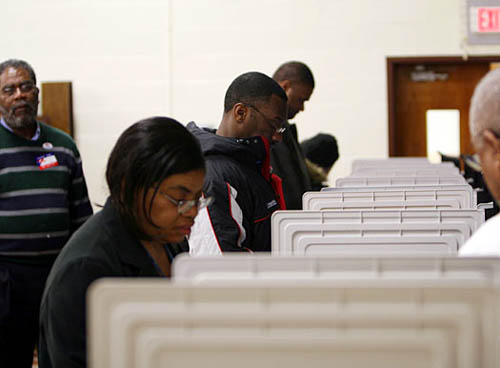 African American voters in Maryland. PHOTO/Rich Vary/NewsHour